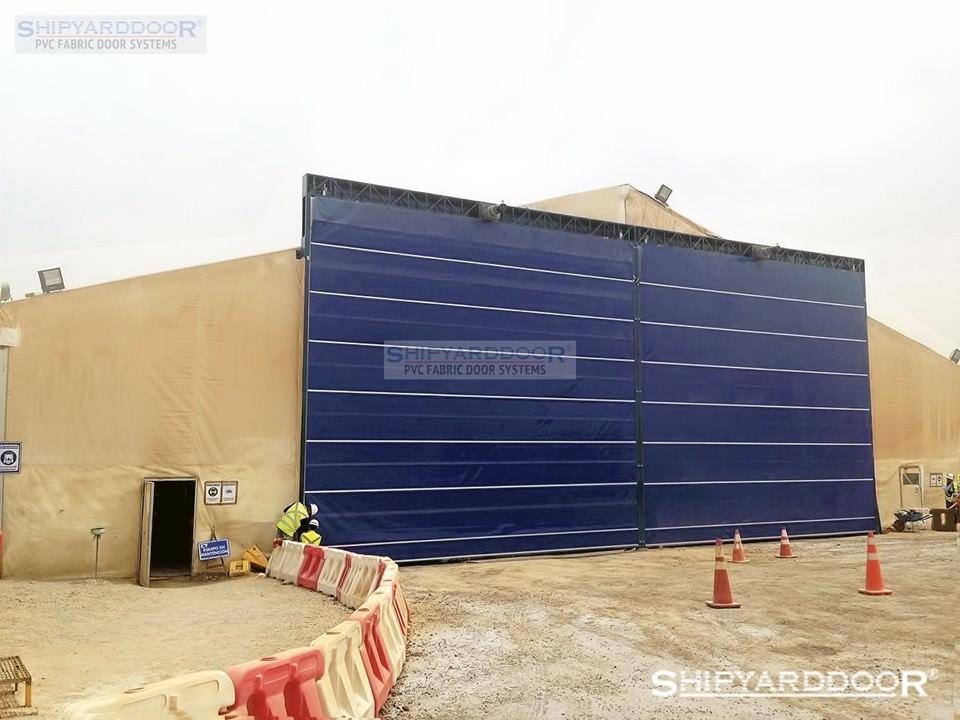 fabric tent door en shipyarddoor