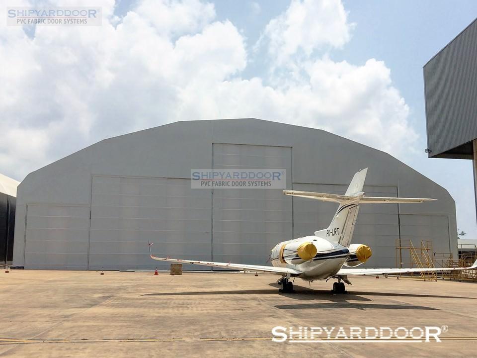 aircraft hangar door indonesia multi mullion en shipyarddoor