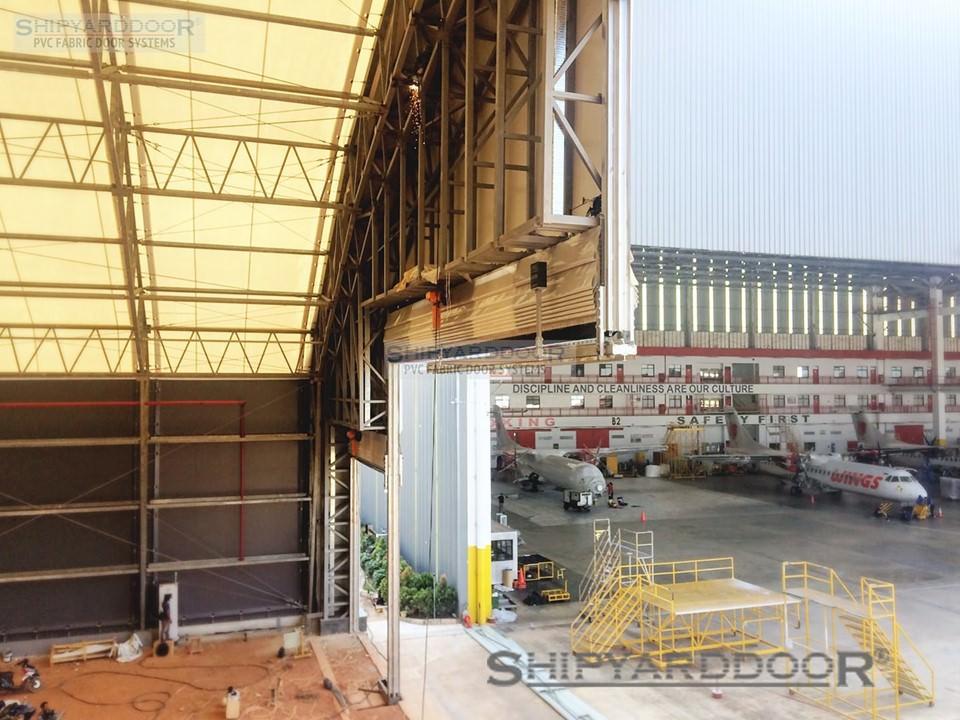 aircraft hangar door indonesia pr23 en shipyarddoor