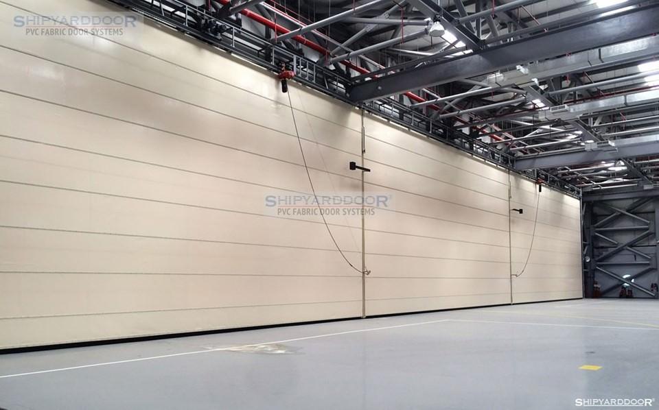 aircraft hangar door multi mullion en shipyarddoor
