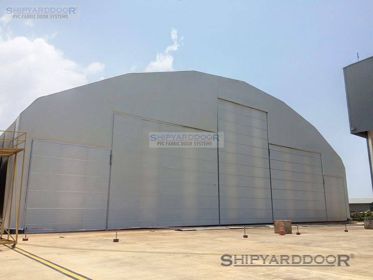 fabric aircraft hangar door indonesia en shipyarddoor
