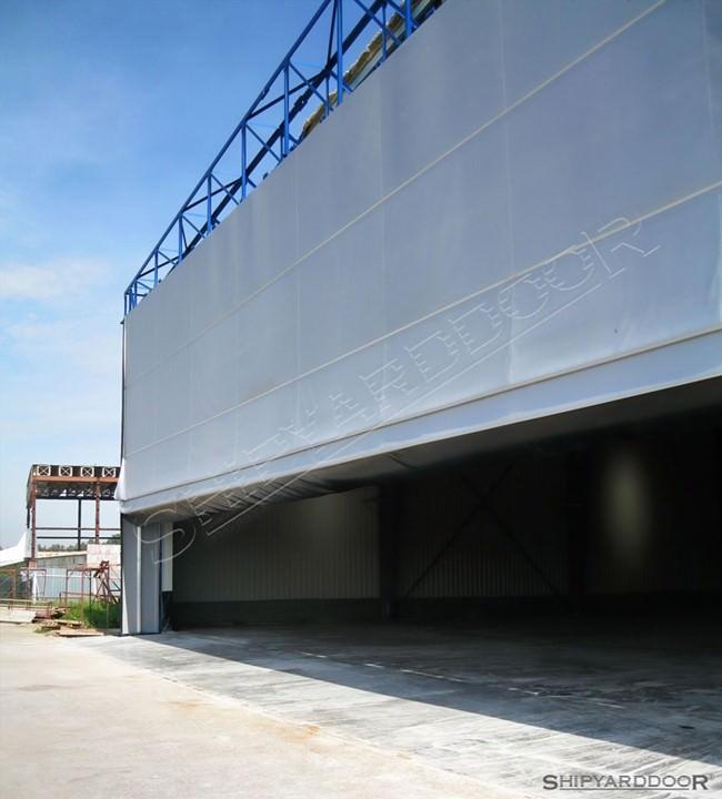 fabric hangar door