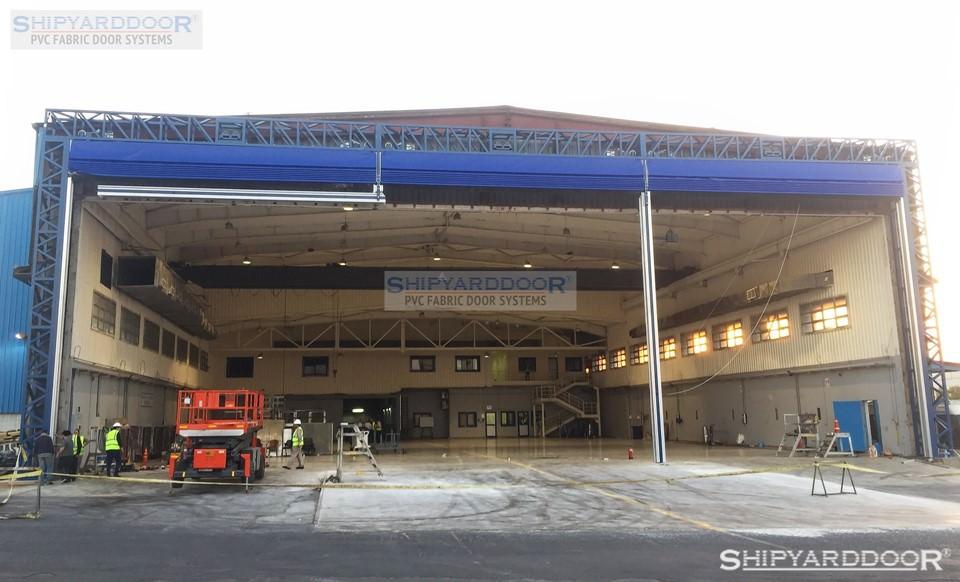 large aircraft hangar door en shipyarddoor