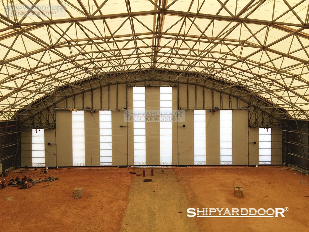 large aircraft hangar door indonesia en shipyarddoor