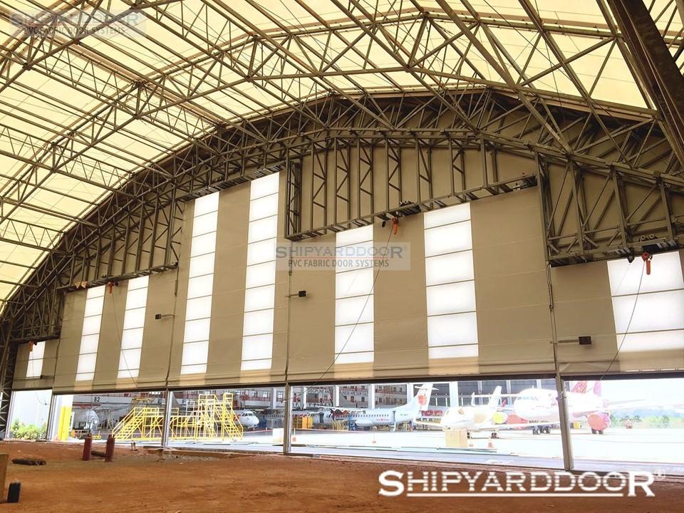 mega aircraft hangar door indonesia en shipyarddoor