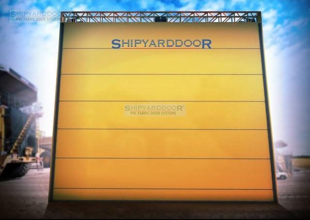 Mining hangar door en shipyarddoor f