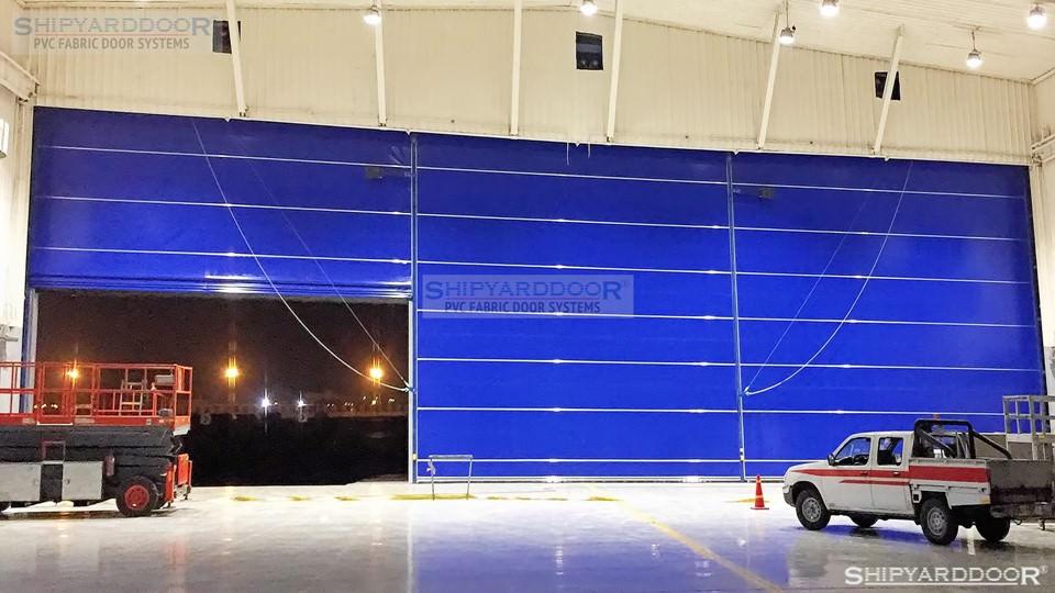 pvc fabric aircraft hangar door en shipyarddoor
