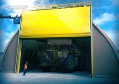 Mining hangar door