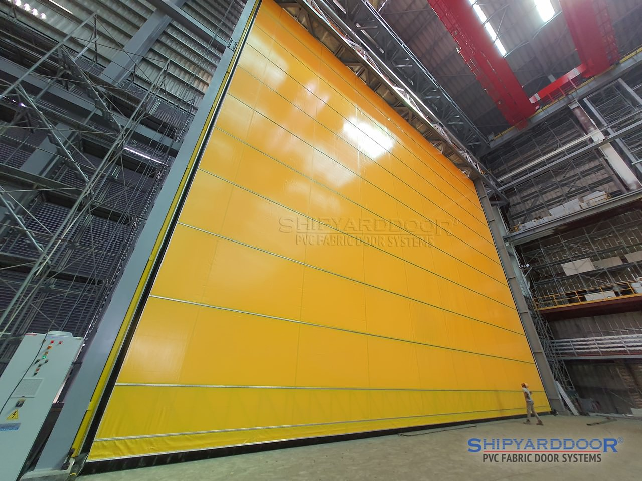 large hangar door